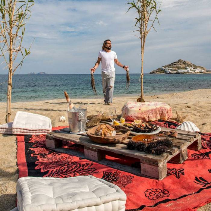 Beach cooking experience