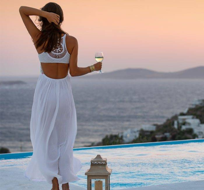 Greek Cocktails and Sunset Mykonos Island